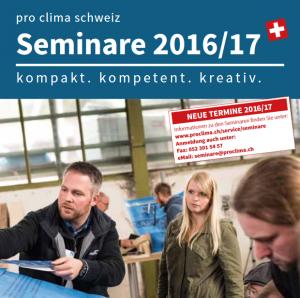 Seminarbroschüre pro clima schweiz 16/17