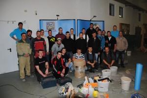 Dämm- und Dichtworkhop an der BSZ Löbau im April 2012: Ökologische Aufklärung vor Abschluss der Ausbildung