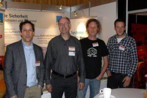 BUILDAIR 2012 mit pro clima:Michael Wehrli (links), Joachim Groß, Holger Merkel und Ruwen Groß