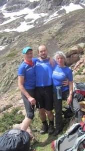 Günter Bergmann (links) mit seinen Alpinis-Kollegen beim Training auf Korsika: Simon Bartl-Zuba und Conny Wrage.
