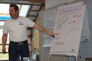 pro clima Techniker Martin Großekathöfer beim Sicher-Dichten-Seminar.