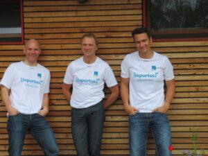 Von links: Die Läufer Leonhard Morche, Günter Bergmann und Stefan Hückstädt von der pro clima Anwendungstechnik.
