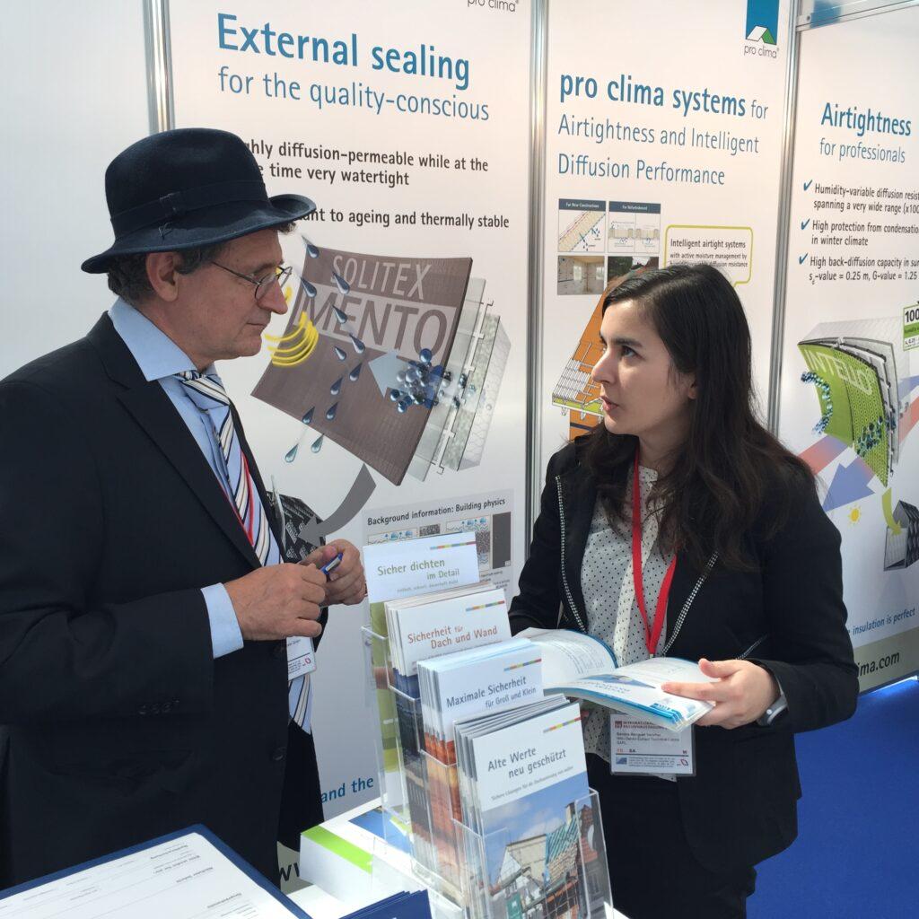 Lothar Moll, Gründer und Geschäftsführer von MOLL pro clima, besuchte die Internationale Passivhaustagung in Leipztig.