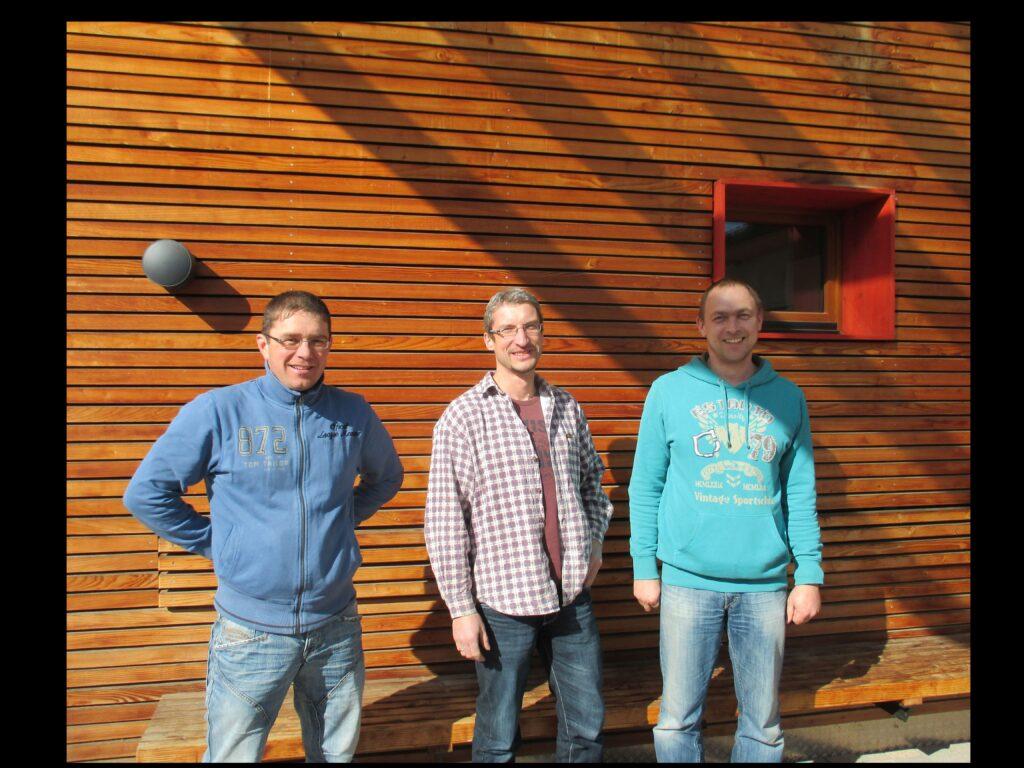 Sven Herold, Carsten Aulhorn und Tino Rasche (v.l.n.r.) von der Zimmerei Donath