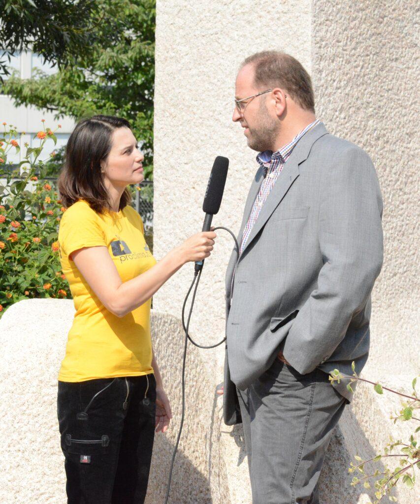 Dr. Klaus Vogel im pro clima TV Interview mit Heide Gentner