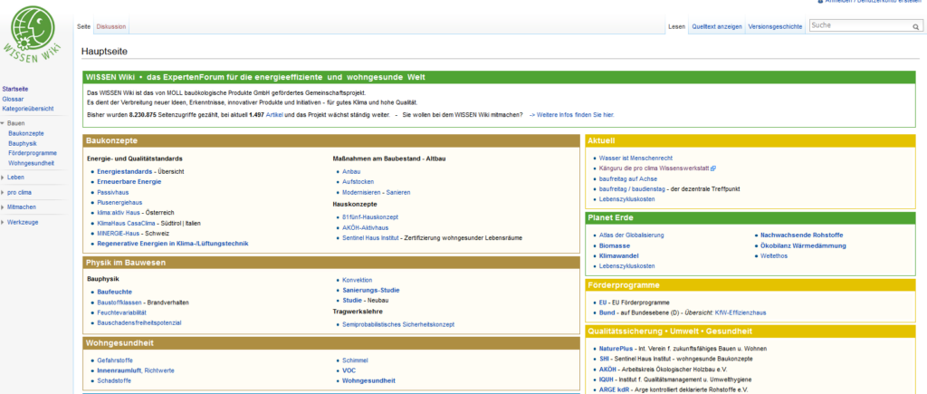 Webseite Wissen Wiki