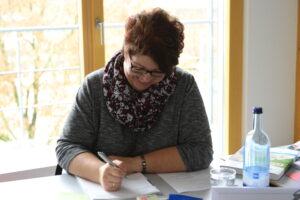 Andrea Schenk von Riek Enst Zimmerei aus Adelmannsfelden.