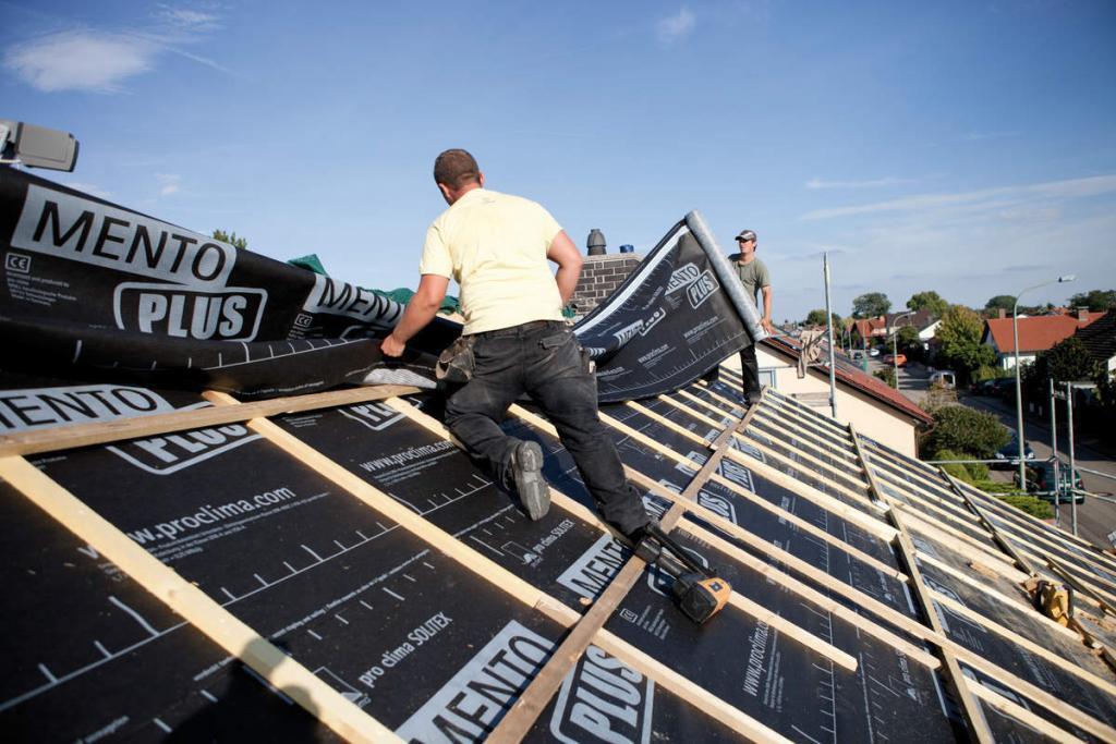 Regensichernde Zusatzmaßnahmen bei Dacheindeckungen