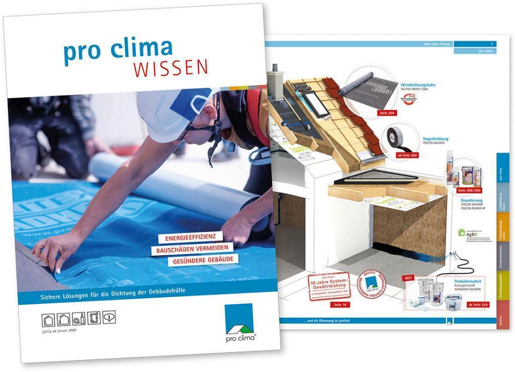 Planungshandbuch pro clima Broschüre Wissen 2020